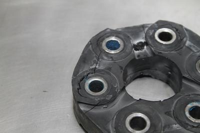 C5 Corvette Torque Tube Coupler Notice The Cracking in the Rubber