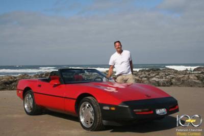 89 Corvette on the beach in Oregon