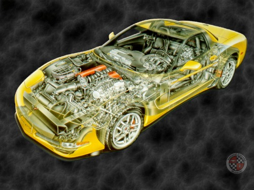 z06cutaway c5 ask for corvette years 97 04  at virtualis.co